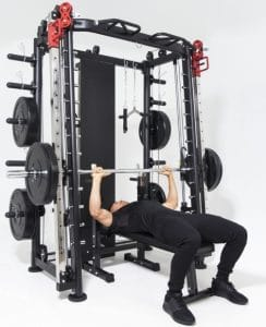 Gorilla Sports Smith Machine Machine avec Power Rack, Multi Station et Presse