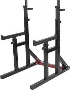 Gorilla Sports Rack à Squat et developpé-couché réglable