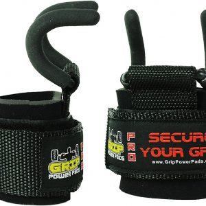 Grip Power Pads - Crochets pour barre d'haltérophilie